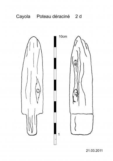 dessin d'un pieu