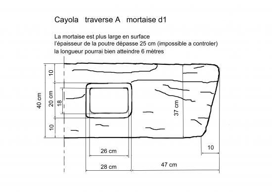 dessin d'une mortaise d'une sablière